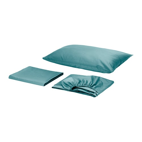 GÄSPA Sheet set   Satin-woven cotton; gives the bedlinen extra luster and softness.