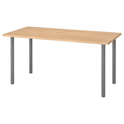 GERTON Table, beech/gray, 61x29 1/2 ""