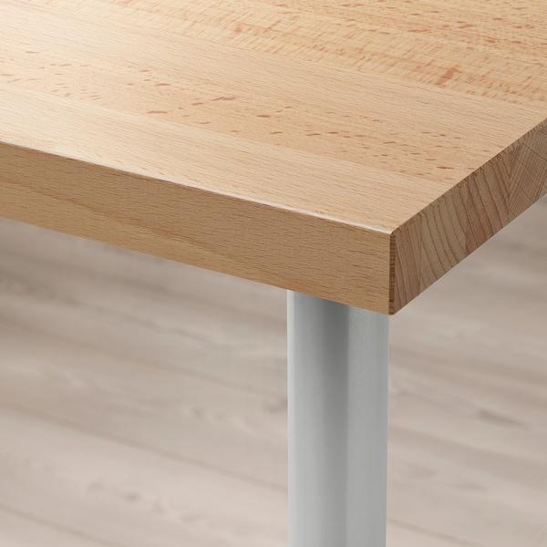 "GERTON / TORSKLINT Table, beech/light gray, 61x29 1/2 """