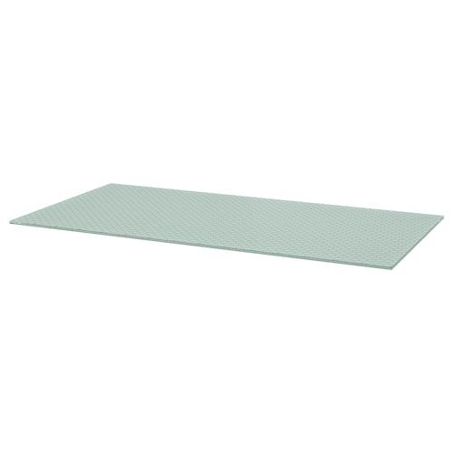 "GLASHOLM tabletop glass/honeycomb pattern 58 1/4 "" 28 3/4 "" 3/8 "" 110 lb 4 oz"