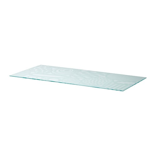 GLASHOLM Table top   The table top in tempered glass is stain resistant and easy to clean.