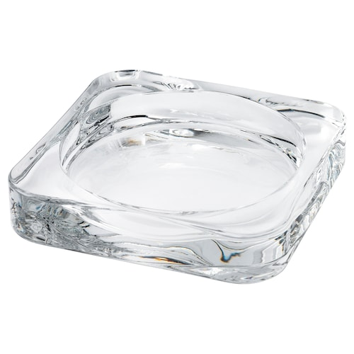 """GLASIG candle dish clear glass 4 """" 4 """" ½ """""""