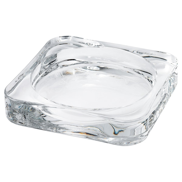 """GLASIG Candle dish, clear glass, 4x4 """""""