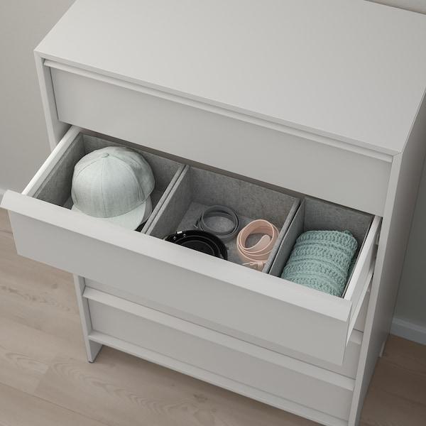 "GLESVÄR 5-drawer chest, light gray/interlock, 30 3/4x46 1/8 """