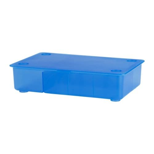 GLIS Box with lid   A perfect place to keep pens, pencils and small accessories.  Stackable; takes up very little storage space.