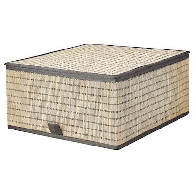 "GNABBAS Box with lid, seagrass, 12 ½x13 ¾x6 ¼ """