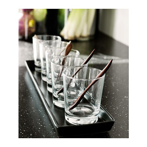 GODIS Glass   The glass has a simple low and straight shape which makes it perfect for all types of cold drinks, such as cocktails with ice.