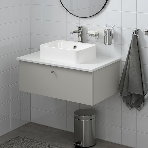 "GODMORGON Bath vanity with 1 drawer, Gillburen light gray, 31 1/2x18 1/2x11 3/8 """