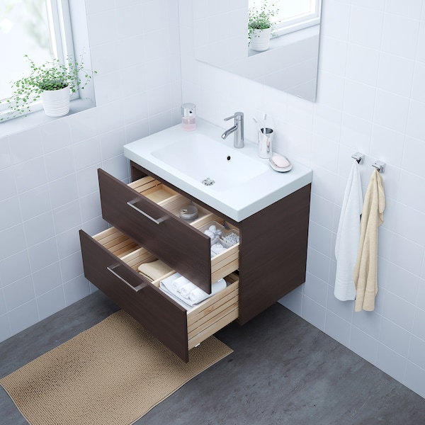 "GODMORGON bathroom vanity black-brown 31 1/2 "" 18 1/2 "" 22 7/8 """