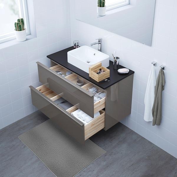 Godmorgon Bathroom Vanity High Gloss Gray 393 8x181 2x227 8 100x47x58 Cm Ikea