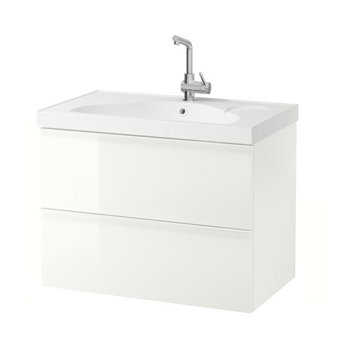 GODMORGON / EDEBOVIKEN Sink cabinet with 2 drawers   10-year Limited Warranty.   Read about the terms in the Limited Warranty brochure.