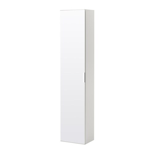 godmorgon high cabinet with mirror door white ikea