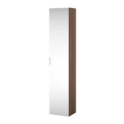 godmorgon high cabinet with mirror door walnut effect ikea
