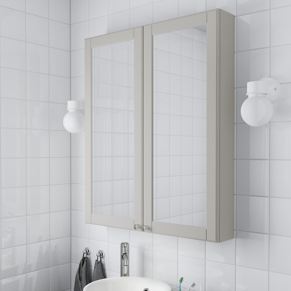 IKEA GODMORGON Mirror cabinet with 2 doors