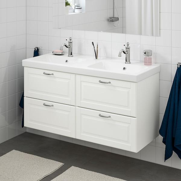 """GODMORGON / ODENSVIK Bathroom vanity, Kasjön white/Hamnskär faucet, 48 3/8x19 1/4x25 1/4 """""""