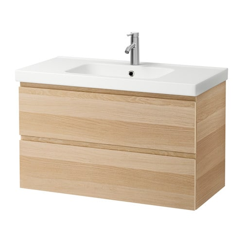 Oak Effect Kitchen Cabinets: GODMORGON / ODENSVIK Sink Cabinet With 2 Drawers