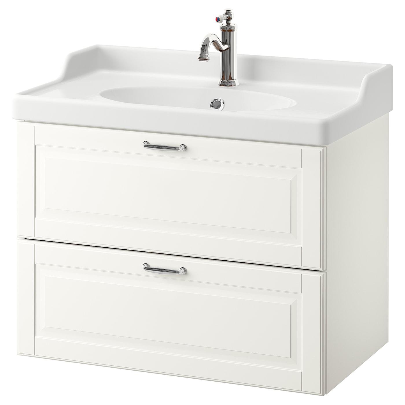 Godmorgon Rattviken Bathroom Vanity Kasjon White Hamnskar Faucet Ikea