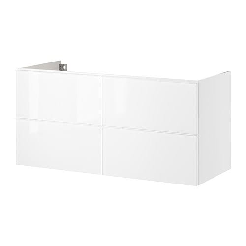 GODMORGON Sink cabinet with 4 drawers   Smooth-running drawers with pull-out stop.