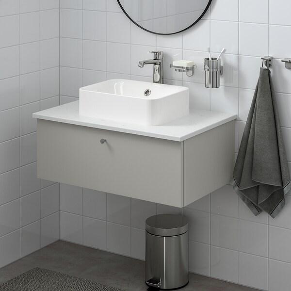 "GODMORGON Sink cabinet with 1 drawer, Gillburen light gray, 31 1/2x18 1/2x11 3/8 """