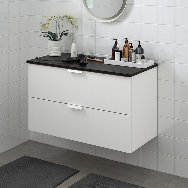 GODMORGON / TOLKEN Bathroom vanity - white/anthracite - IKEA