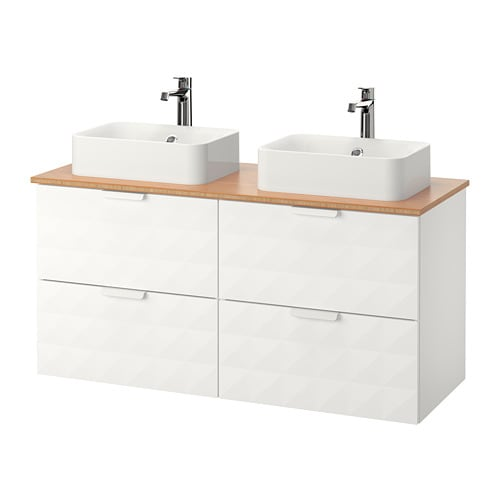 "GODMORGON TOLKEN H–RVIK Cabinet top 17 3 4x12 2 8"" sink"