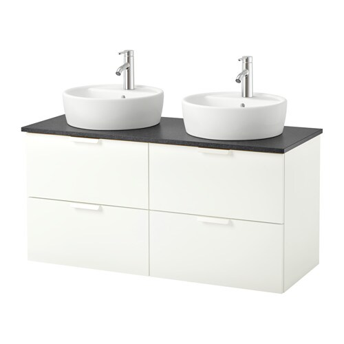 Godmorgon tolken t rnviken cabinet countertop 19 5 8 sink anthracite white ikea - Planner bagno ikea ...