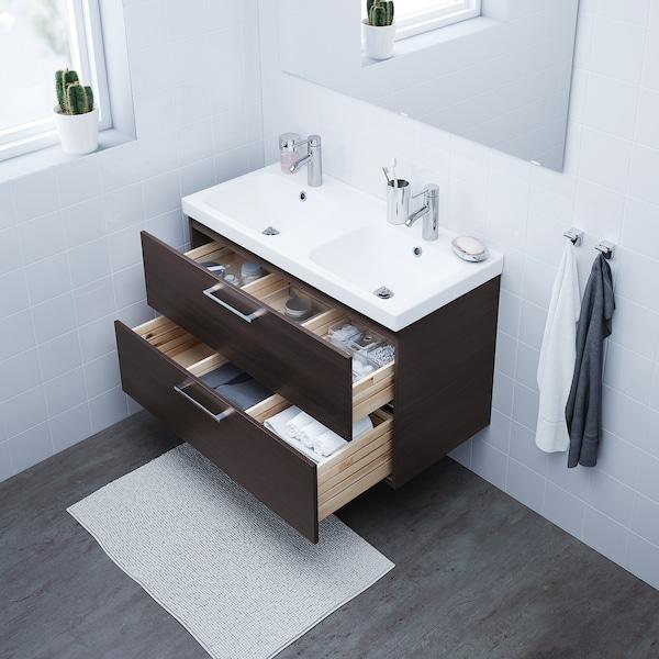 "GODMORGON bathroom vanity black-brown 39 3/8 "" 18 1/2 "" 22 7/8 """
