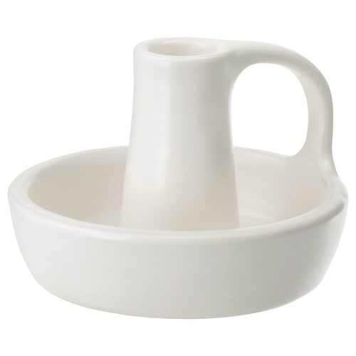 "GODTAGBAR candlestick ceramic white 3 """