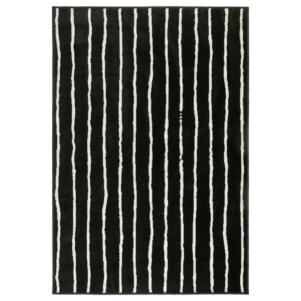 "GÖRLÖSE Rug, low pile, black/white, 4 ' 4 ""x6 ' 5 """