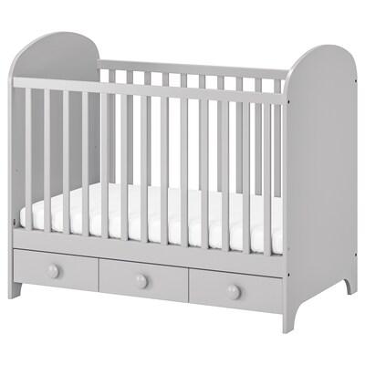 """GONATT Crib, light gray, 27 1/2x52 """""""