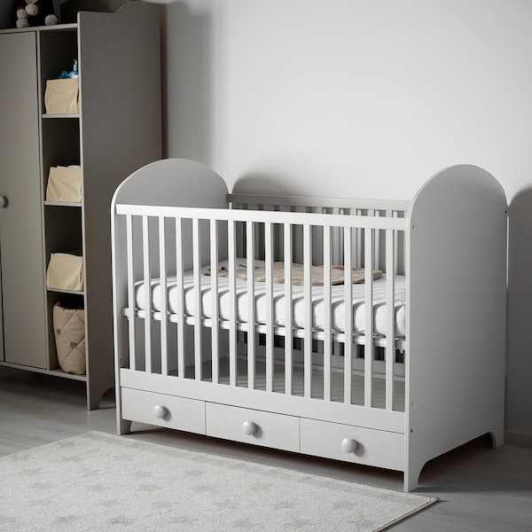 GONATT Crib, light gray, 27 1/2x52 ""