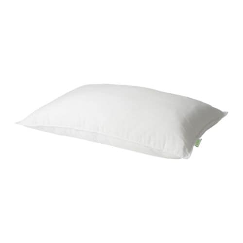 GOSA VÄDD Pillow, back sleeper   A medium high synthetic pillow for those that prefer sleeping on their back.