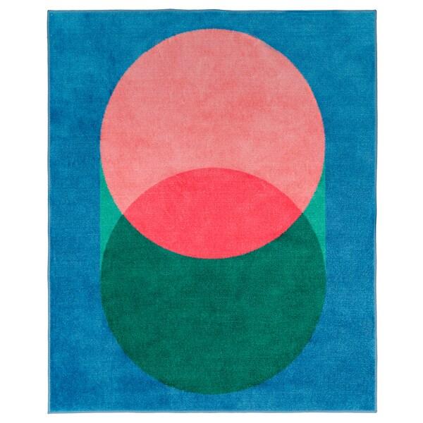 """GRACIÖS Rug, pink/blue, 4 ' 4 """"x5 ' 3 """""""