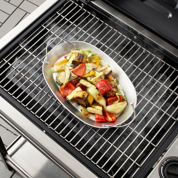 """GRILLTIDER barbecue tray stainless steel 12 ¼ """" 8 ¼ """" 1 """""""