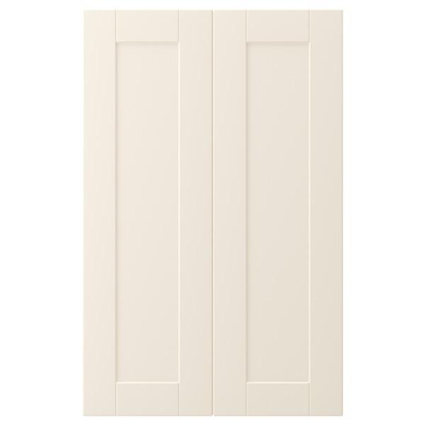 """GRIMSLÖV 2-p door/corner base cabinet set, off-white, 13x30 """""""