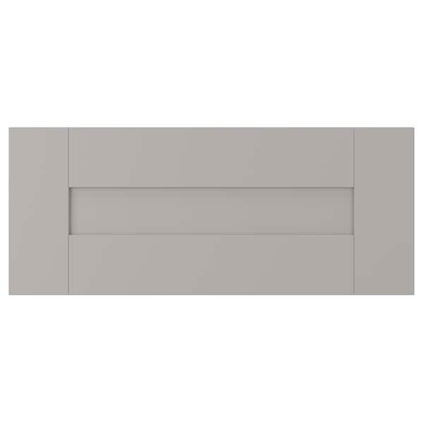 GRIMSLÖV Drawer front, gray, 24x10 ""