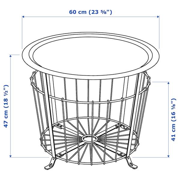 "GUALÖV Storage table, black, 23 5/8 """