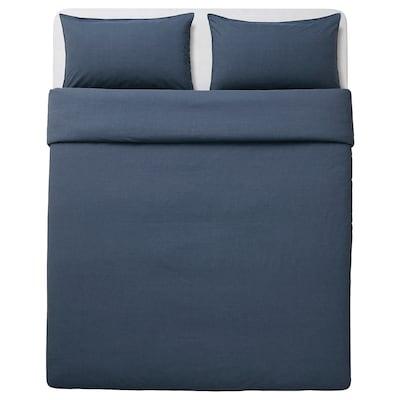 GULBJÖRK Duvet cover and pillowcase(s), blue, Full/Queen (Double/Queen)