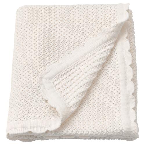 """GULSPARV baby blanket white 35 """" 28 """""""
