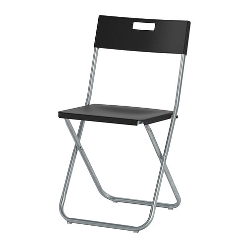 GUNDE Folding chair   You can fold the chair, so it takes less space when you're not using it.