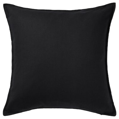 GURLI Cushion cover, black, 20x20 ""