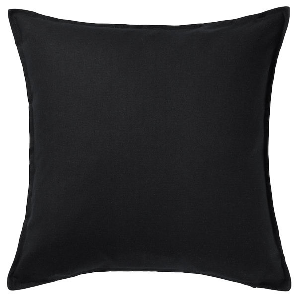 "GURLI Cushion cover, black, 20x20 """