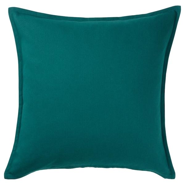 "GURLI Cushion cover, dark green, 20x20 """