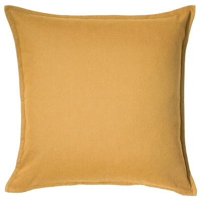 GURLI Cushion cover, golden-yellow, 20x20 ""