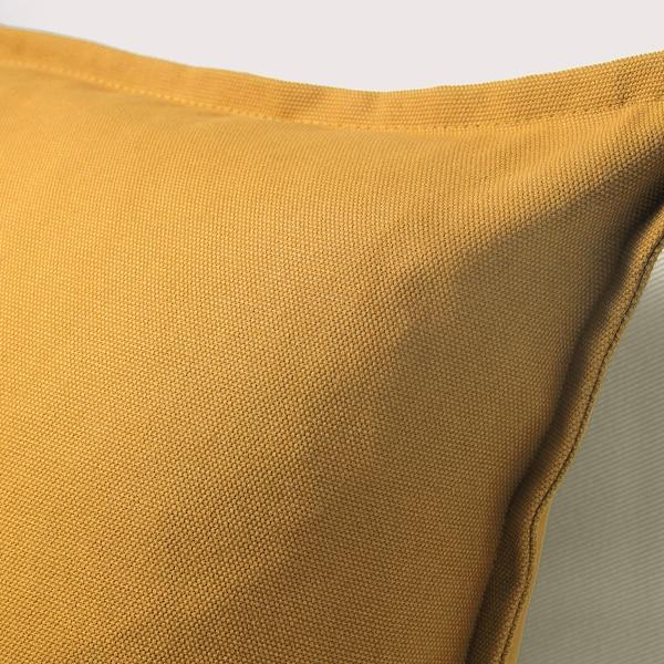 "GURLI Cushion cover, golden-yellow, 20x20 """