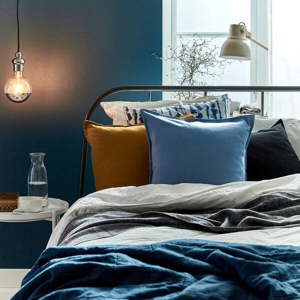 "GURLI Cushion cover, light blue, 20x20 """