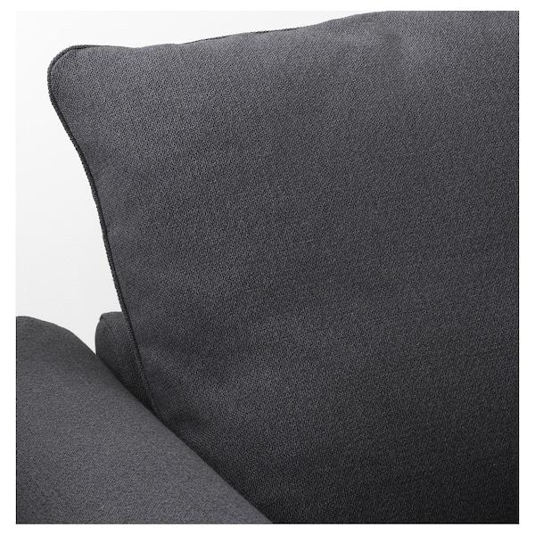 HÄRLANDA Corner sofabed, with chaise/Sporda dark gray