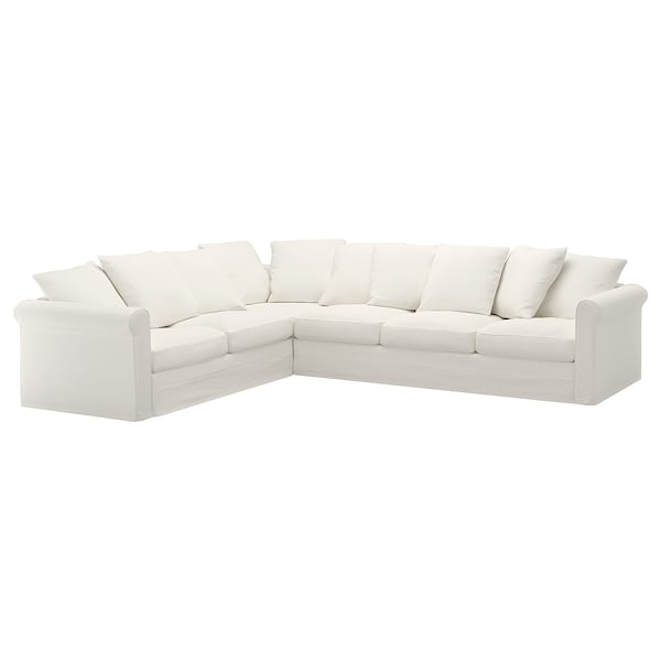 HÄRLANDA Cover for sectional, 5-seat, Inseros white