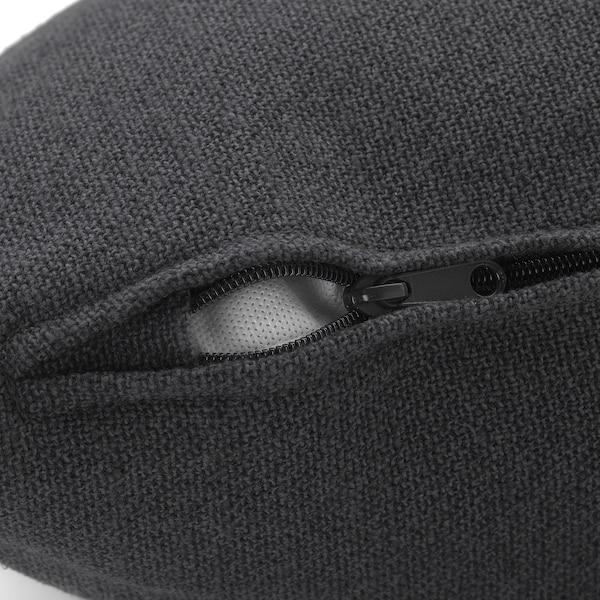 HÄRLANDA Cover for sofa, with chaise/Sporda dark gray