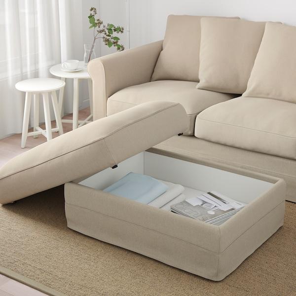 HÄRLANDA Footstool with storage, Sporda natural